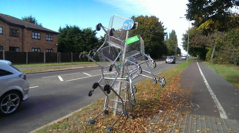 Funny shopping trolley picture