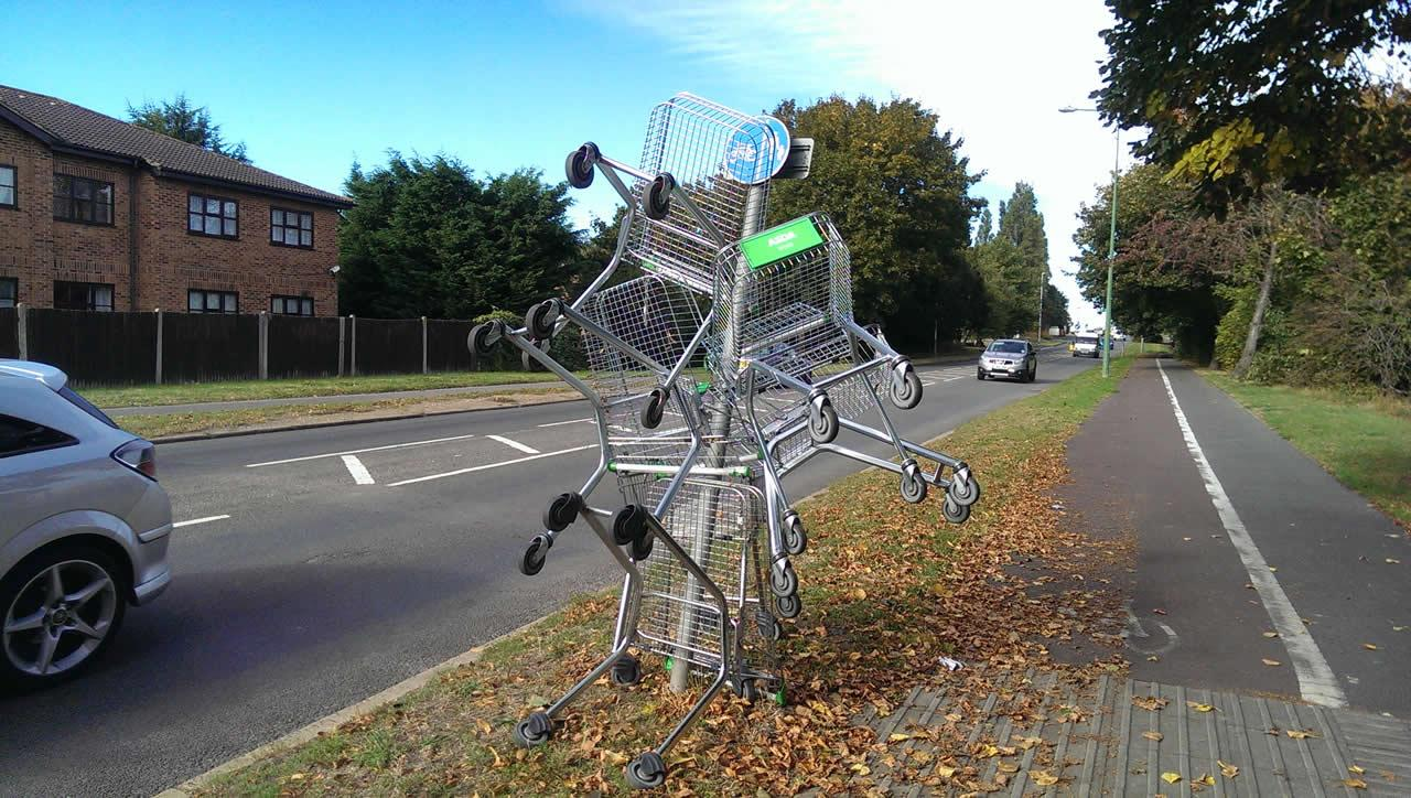 Swanley – Home of the dumped & abandoned shopping trolley