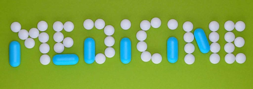 Medicines, pills and tablets