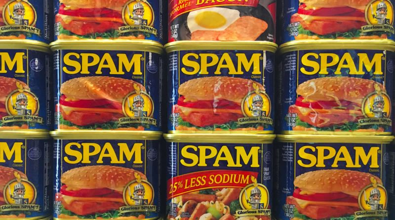 Tins of spam
